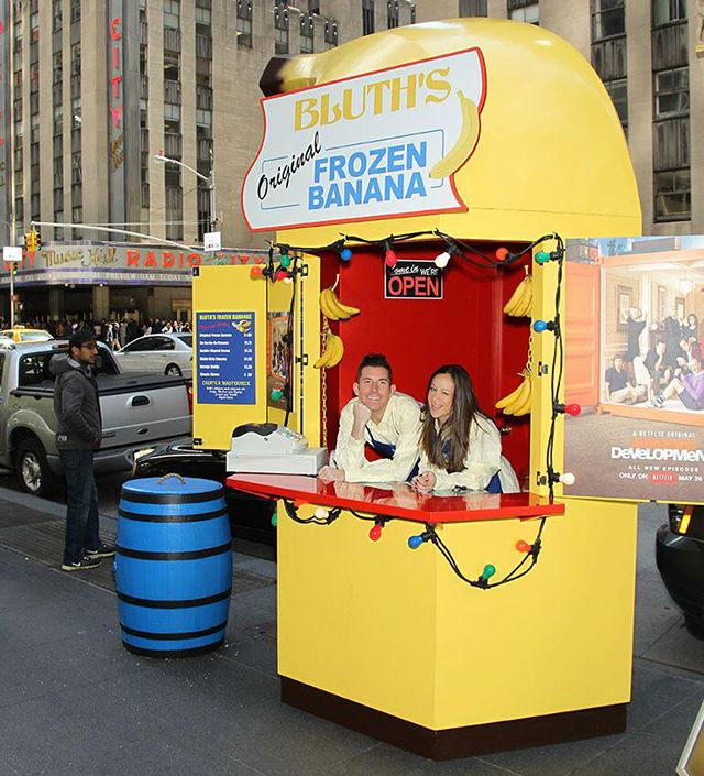 'Arrested Development' Banana Stand Opening in New York - Netflix promo