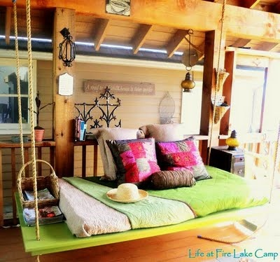 Hanging Bed Swing On Screened Porch. Closing The Daycare Chapter U0026  Redecorating My Newly Reclaimed