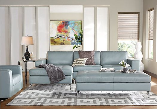picture of Brandon Heights Hydra 3 Pc Sectional Living Room  from Leather Living Rooms Furniture