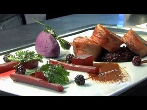 Michelin Starred Alan Murchison -cooks loin of venison with chocolate & ...