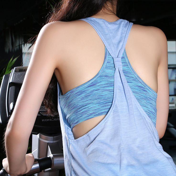 Women Sports Shirt Breathable Sleeveless Sport Fake Two Pieces Women Bra Cool Loose Yoga Fitness Running Shirt Women Sport Top