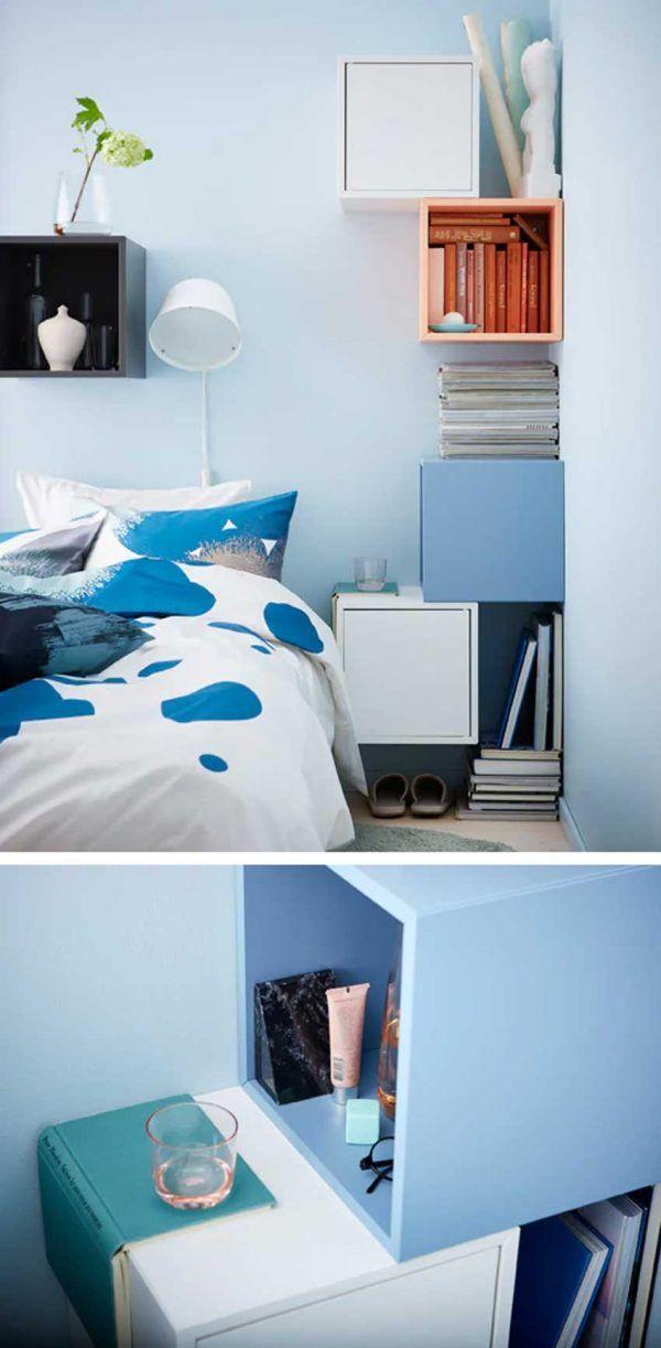 Mensole Ikea 15 Modi Di Utilizzarle In Modo Furbo Per Arredare Ispiratevi Idee Camera Da Letto Ikea Arredamento Mensole Per Camera Da Letto