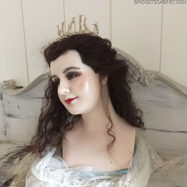 1890 Wax Mannequin head very Rare Pale wax French wax