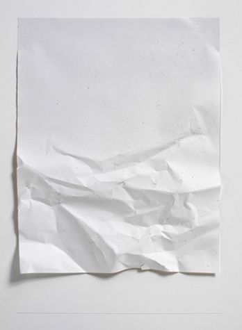 "nicoonmars: "" Stephen Antonakos Untitled, Winter Series 57A, 2008 Crumpled white paper """