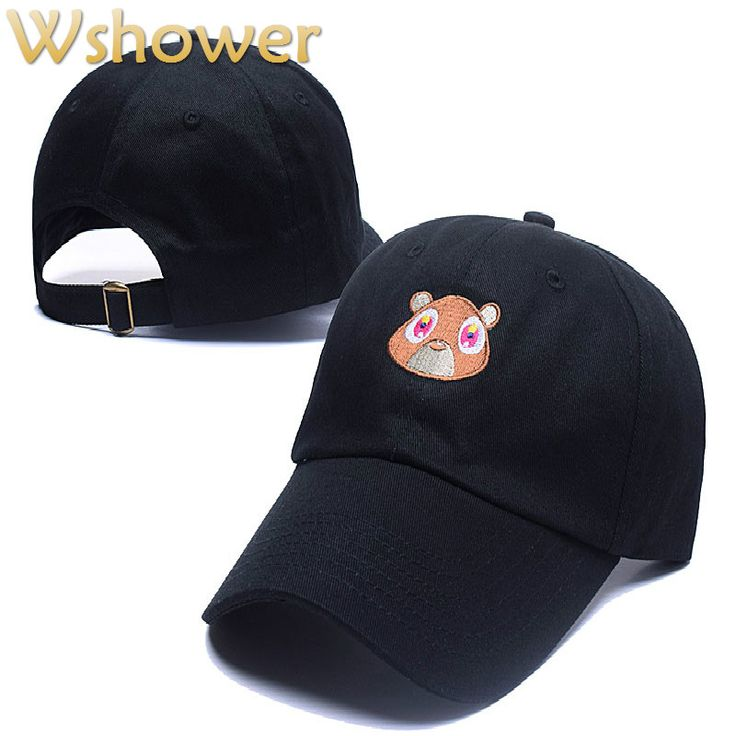 Black Pink Tan Kanye West Graduation College Dropout Bear Dad Hat Cap Never not weird Baseball Cap Hip Hop Summer Snapback hat #clothing,#shoes,#jewelry,#women,#men,#hats,#watches,#belts,#fashion,#style