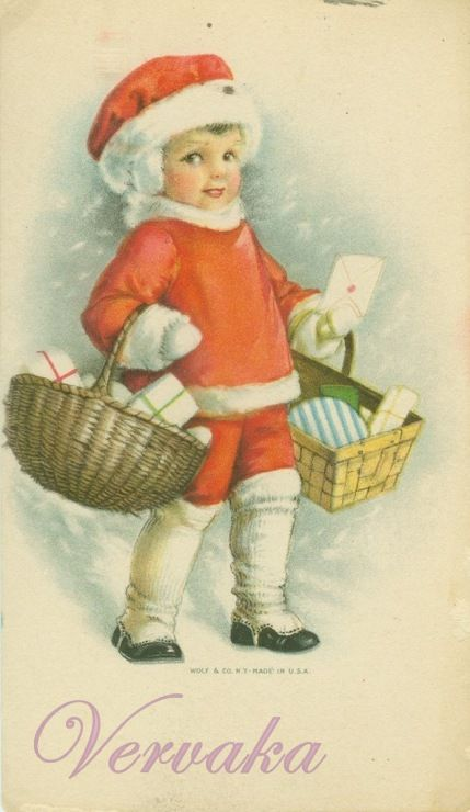 Винтажные старинные открытки почтальон