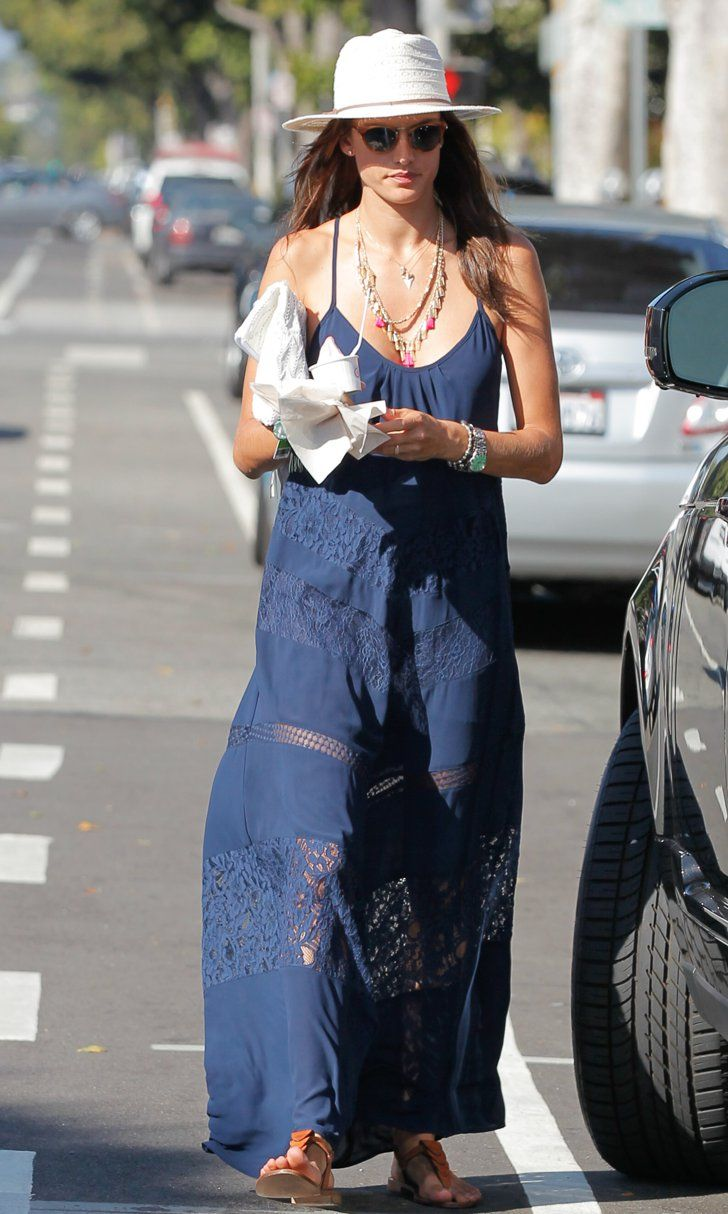 Who Said Maxi Dresses Are Over? Alessandra Ambrosio Looks Summer-Perfect Wearing One