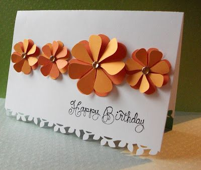 folded hearts as petals - how to#Repin By:Pinterest++ for iPad#: Cards Ideas, Cute Cards, Make Flower, Paper Flower, Birthday Cards, Folding Heart, Flower Cards, Basements Chronicles, Flower Birthday