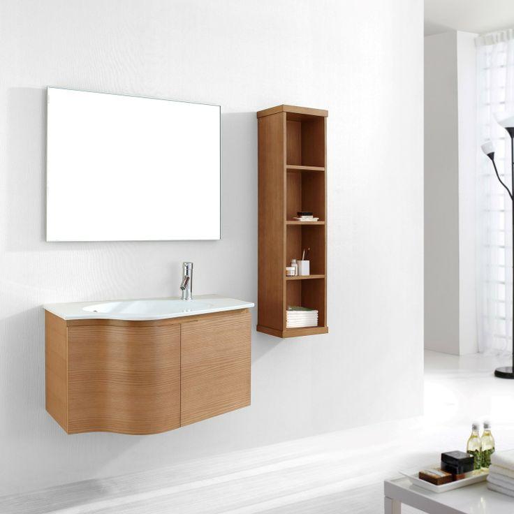 Inspiration Web Design Virtu USA Roselle Single Sink Bathroom Vanity Set In Chestnut With Ceramic Sink Top