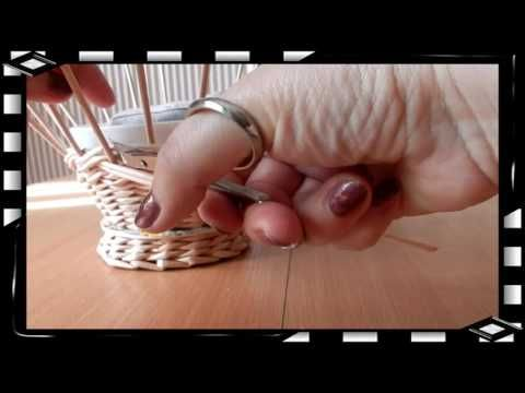 How to Make a Basket from  Newspaper   DIY Návod na pletené  z papíru Cestería con periódicos - YouTube