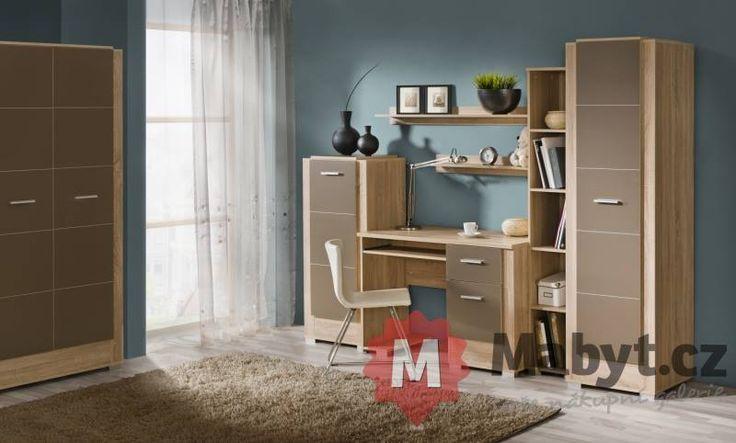 Moderní domácí kancelář či pokoj pro studenta Italy 9 http://www.mabyt.cz/38633-pracovna-sestava-italy-9.htm