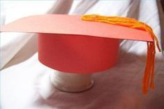 How to Make Graduation Caps Out of Paper @Alden Strandburg we could do this cheaper than the fabric bandanas.