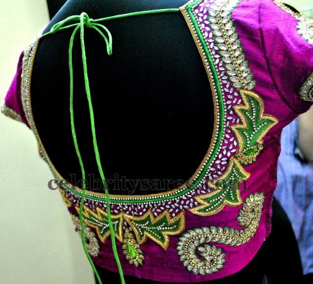 Zardosi Kundan Latest Designer Blouses | Saree Blouse Patterns