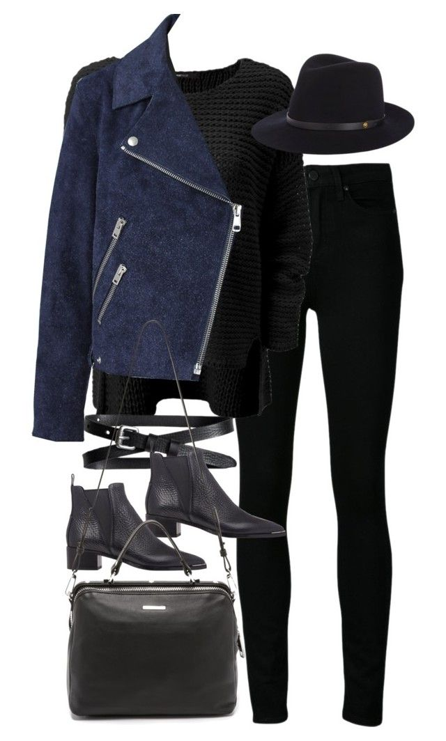 """""""Inspired outfit for work"""" by pagesbyhayley ❤ liked on Polyvore featuring Paige Denim, Acne Studios, rag & bone, Banana Republic and Linea Pelle"""