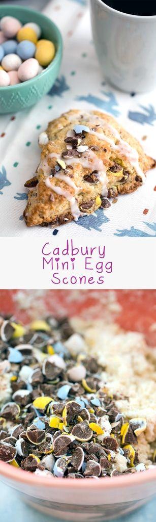 Cadbury Mini Egg Scones.