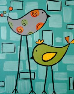 """Bring out the whole family to paint """"Sing Me A Song""""!  This painting is fun for all ages"""