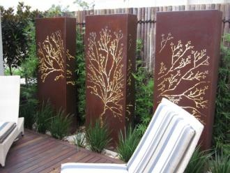 Tree of Life corten steel light panel by Lump Sculpture Studio
