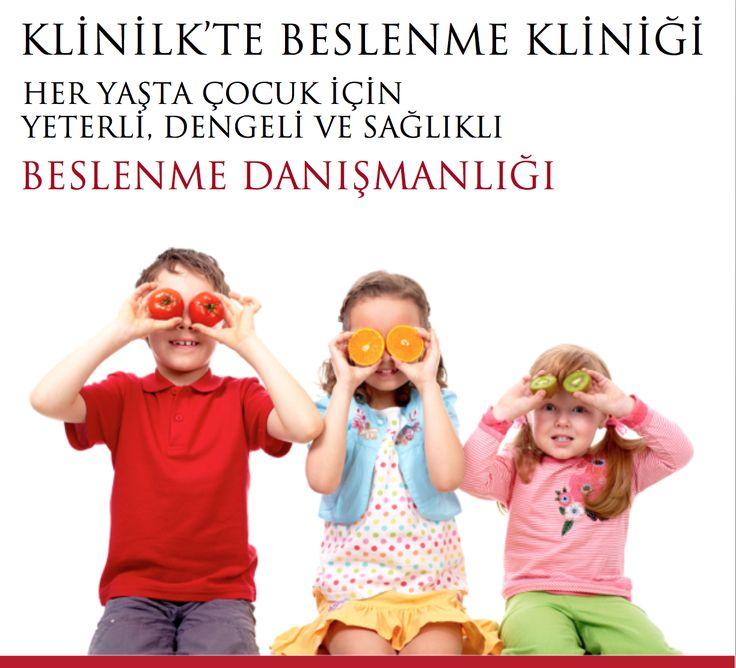 """KLİNİLK'TE BİR YENİLİĞİMİZ VAR! Prof. Dr. Muazzez Garipağaoğlu ve Uzman Çocuk Diyetisyeni Gözde Aksoy ile """"ÇOCUĞA ÖZEL BESLENME DANIŞMANLIĞI"""" hizmeti başlıyor. Kimler için? Bütün çocuklar için: Yeterli, Dengeli ve Sağlıklı Beslenme Danışmanlığı. Özel durumları olan çocuklar için; İştahsızlık, Yeme bozukluğu, Gıda alerjisi/duyarlılığı, Metabolik hastalıkları olan, ya da Sporcu gençler için Uygun Diyet Danışmanlığı"""