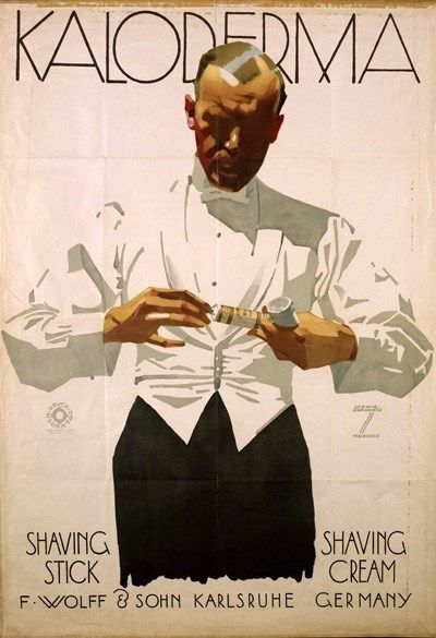 "By Ludwig Hohlwein (b.1874 - d.1949, Germany), ""Kaloderma""- Shavin Cream-, Advertising Design Poster"
