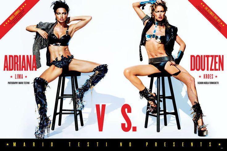 Tyttö Gladiator Pääkirjoitukset: V Magazine Adriana Vs Doutzen