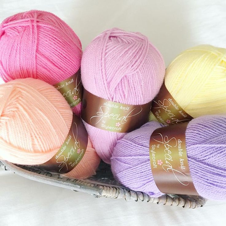 Icecream-inspired colours in Stylecraft Special DK: fondant, apricot, lemon, clematis and wisteria.