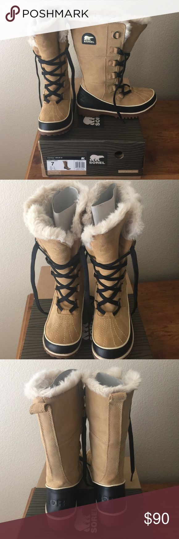 SOREL Tivoli High size 7 Like brand new only worn twice! Size 7 SOREL Shoes Winter & Rain Boots