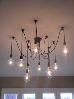 Life in a Little Red Farmhouse: Favorite Farmhouse Feature - Edison Chandelier