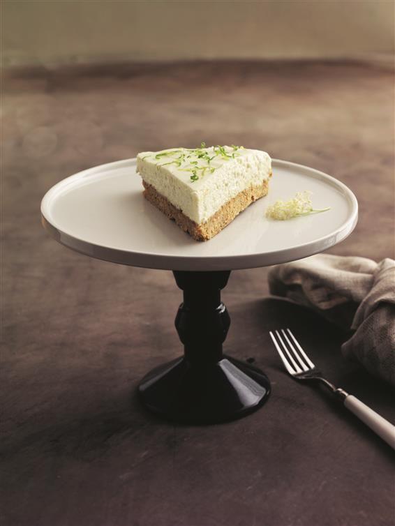 cheesecake med lime og hyldeblomst