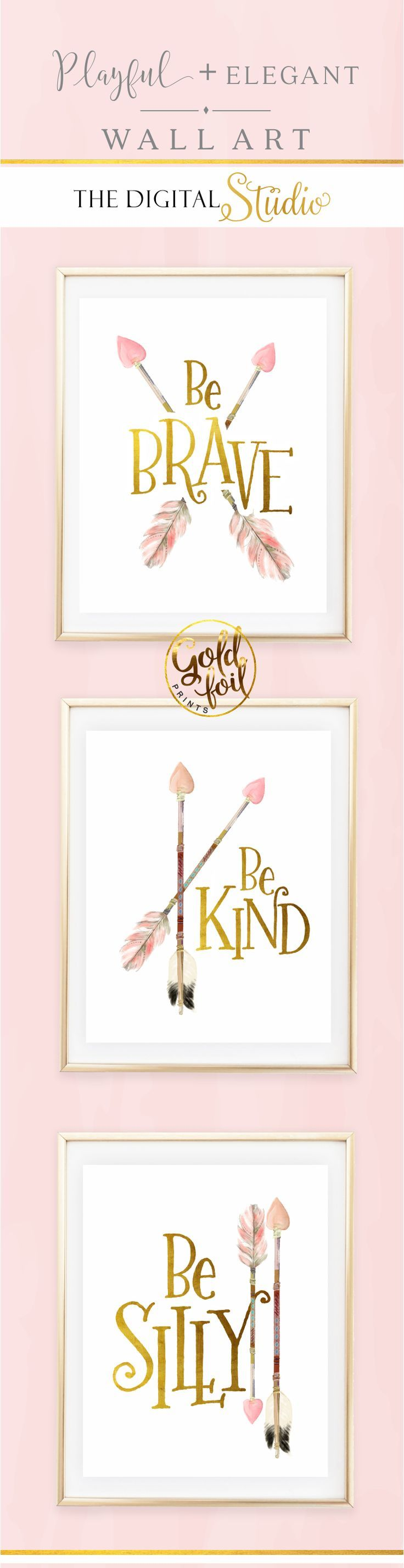 nice Baby Girl Nursery Wall Decor. Set of 3 Pink and Gold Wall Art. Little Girl Woodl... by http://www.top-100-home-decor-pics.us/girl-room-decor/baby-girl-nursery-wall-decor-set-of-3-pink-and-gold-wall-art-little-girl-woodl-2/