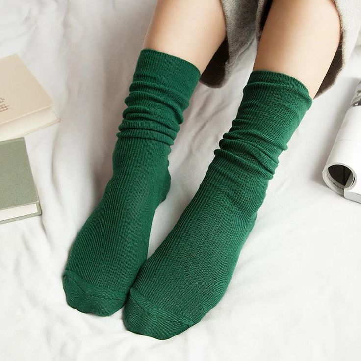 5 Pairs Gril Casual Fashion Ladies Sock Female Christmas Cute Long Socks For Women Autumn Winter Warm Socks Calcetines Mujer #Affiliate