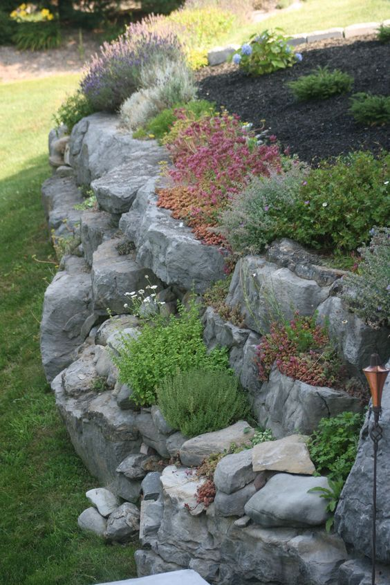 25 best ideas about sloped front yard on pinterest for Landscaping rocks and plants