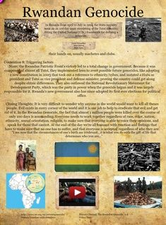 the rwandan genocide essay Rwandan genocide essay 3369 words | 14 pages the genocide was partly founded in ethno-politics, as a group of exiled hutus, the rwandan patriotic front, invaded rwanda from uganda in order to reclaim their power within rwanda from the tutsi peoples.