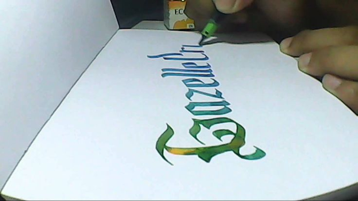 gazelle cross | Hand lettering with pilot parellel pen 3.8mm