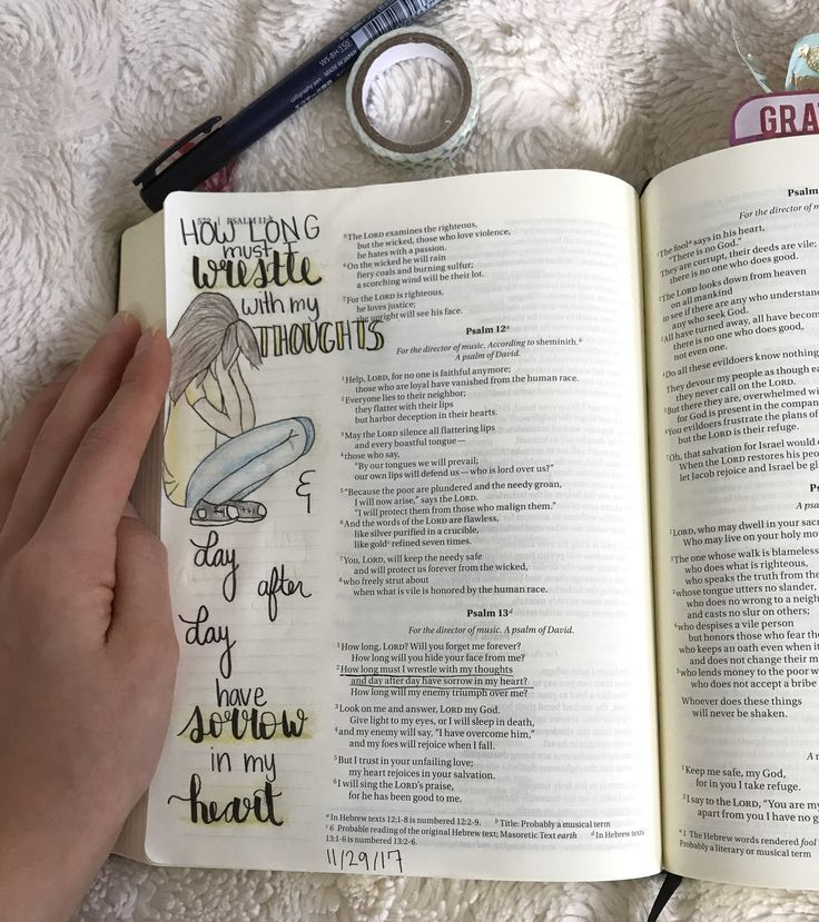 Bible Journaling Psalm 13:2