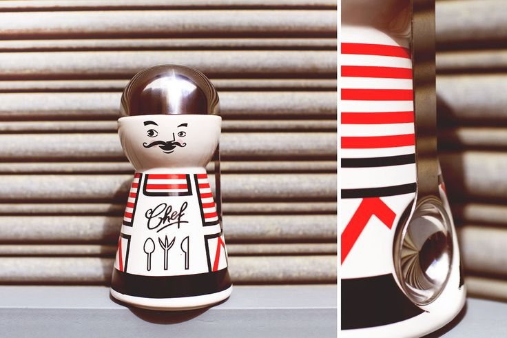 French Chef Ceramic Kitchen Jar  Price: $8 + postage Condition: Never been used Extras: Stainless steel spoon magnet on side Colour: Ceramic white / red / black  Love this? Send us a Facebook message and feel free to make an offer!