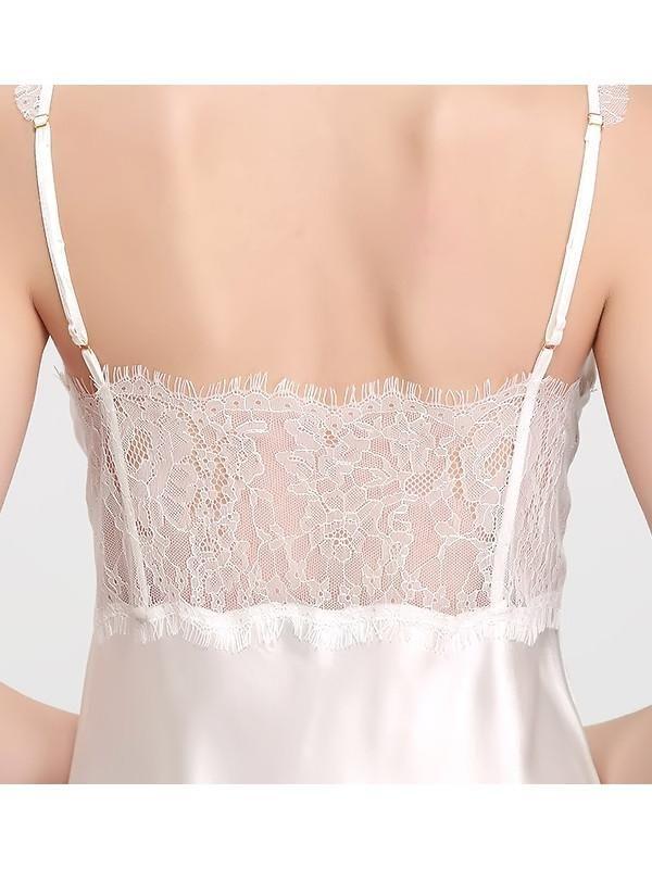 women fashion   lingerie   classy   elegant      vintage   silk   nightwear   wedding   set   cute   underwear   luxury   beautiful   outfits   Barely There sexy lace back mini slip 100% silk