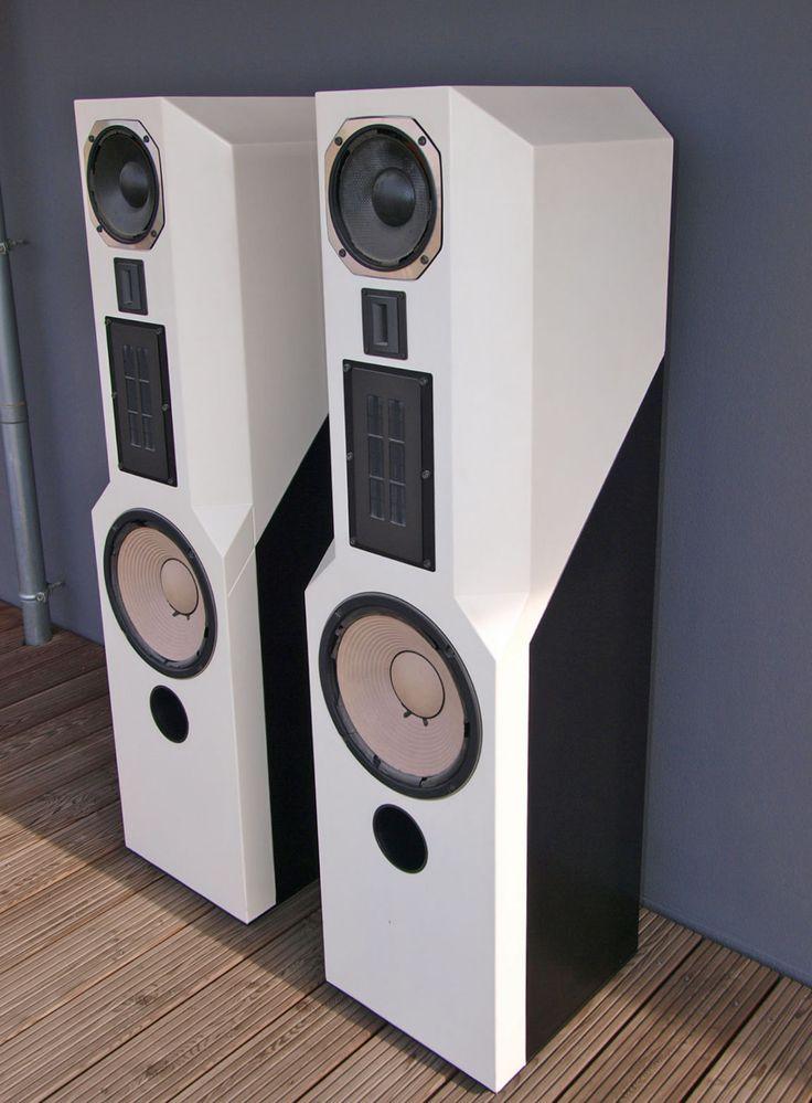 Lautsprecher ACR Isostatic RP300 Lack weiss/schwarz in TV, Video & Audio, Heim-Audio & HiFi, Lautsprecher & Subwoofer   eBay