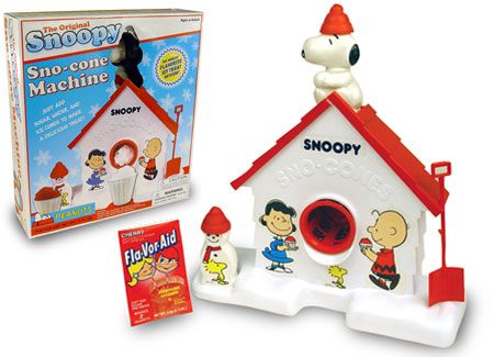 THE ORIGINIAL SNOOPY - SNO-CONE MACHINE  from back when you had to work to get a treat!!