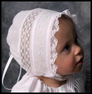 """Lauren""-a Baby Heirloom Cap by Sara Norris!"