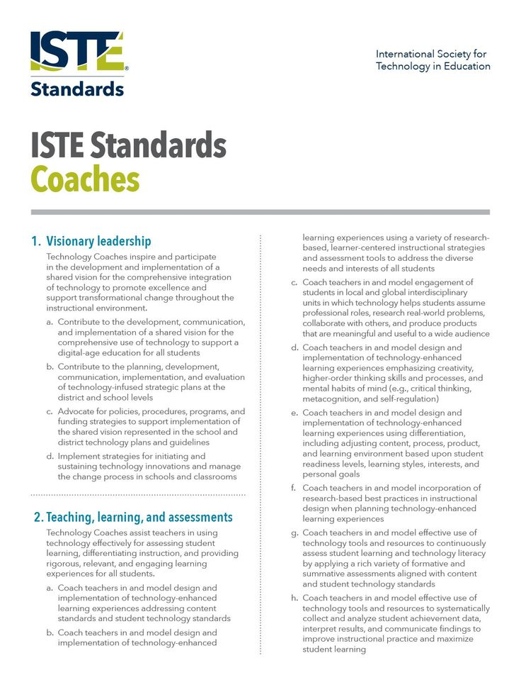 Standards for technology coaches | ISTE
