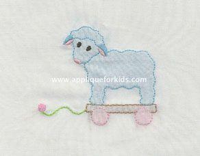 sweet little lamb. Shadow work by machine - easy!