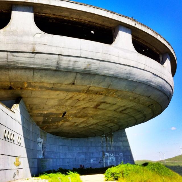 Old soviet building near Veliko Tarnovo, Bulgaria