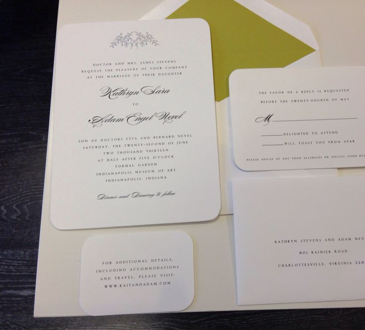 Classic silver edged engraved wedding invitation Garden
