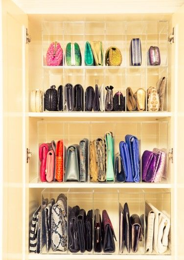 In Gayle King's Closet our GLAMboxes GLAMdivide Clutch + Handbag Organizer - The Coveteur.