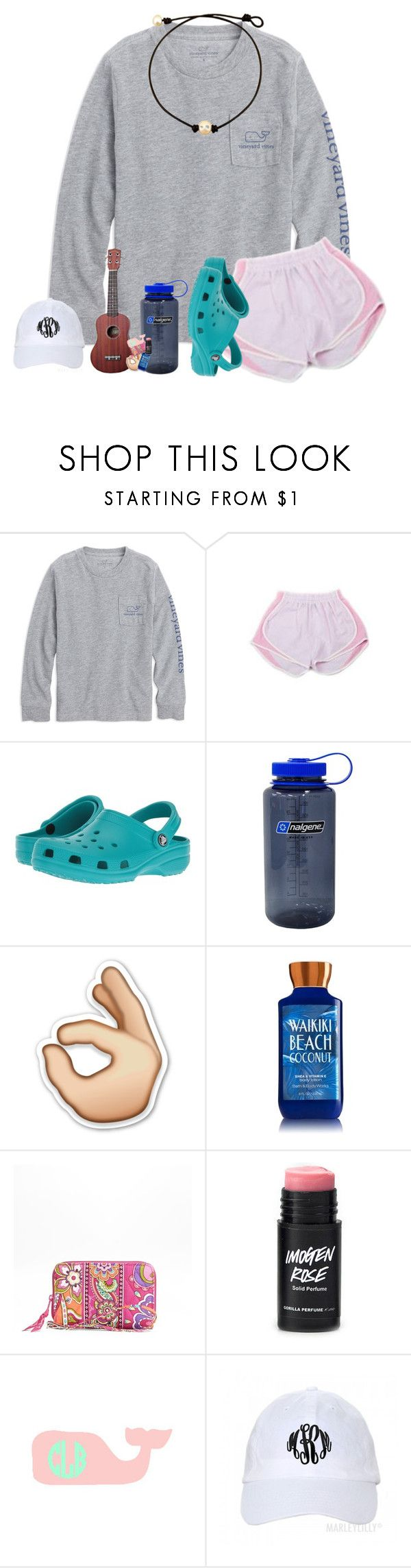 """crocs❤️"" by southernmermaid ❤ liked on Polyvore featuring Crocs, Nalgene and Vera Bradley"