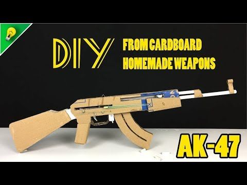 How To Make An AK 47 - DIY From Cardboard - Homemade Weapons