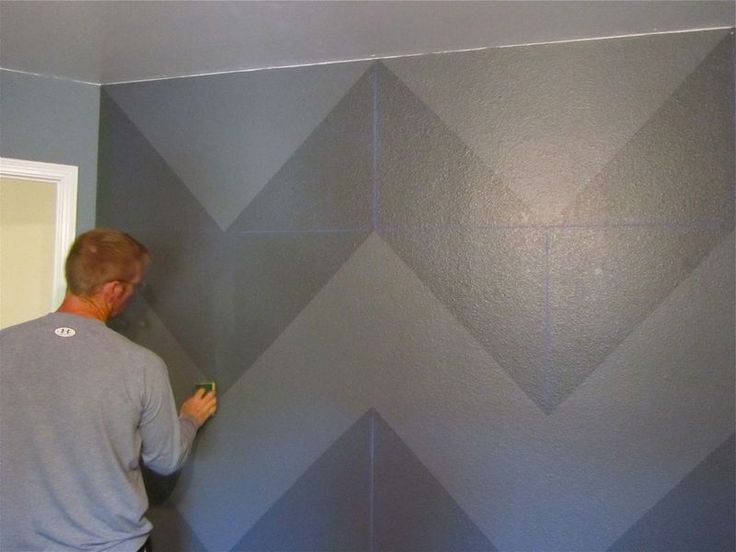 BEST chevron wall tutorial I have found! I literally CANNOT wait to do this DIY.