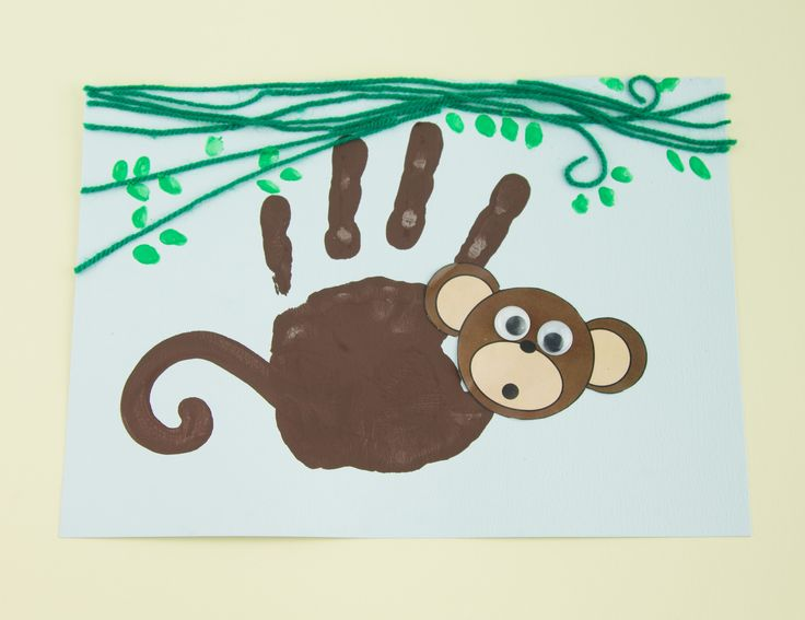 Handprint Monkey - Twinkl Craft Idea                                                                                                                                                                                 More