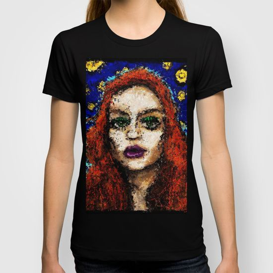 From the darkness she softly whispers. T-shirt