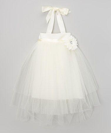This Ivory Flower Tutu Dress - Toddler & Girls by ClassyKidzShop is perfect! #zulilyfinds